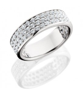 Rings - 1.50 Carat Round Brilliant Diamond Eternity Band 18Kt White Gold