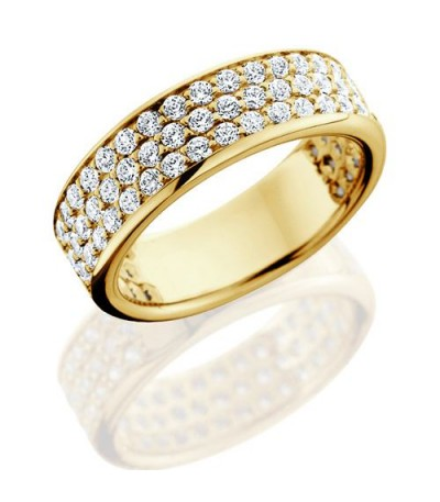 Rings - 1.50 Carat Round Brilliant Diamond Eternity Band 18Kt Yellow Gold