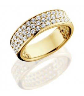 1.50 Carat Round Brilliant Diamond Eternity Ring 18Kt Yellow Gold