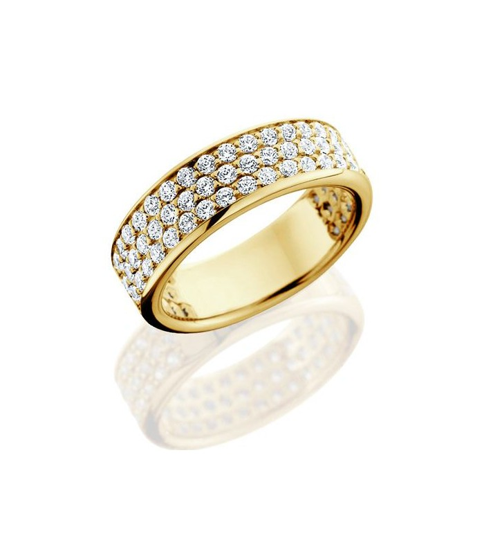 brilliant 1 50ct eternity ring 18kt yellow