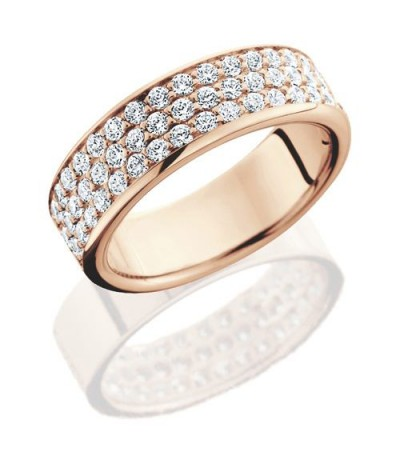 Rings - 1.02 Carat Round Brilliant Diamond Eternity Band 14Kt Rose Gold