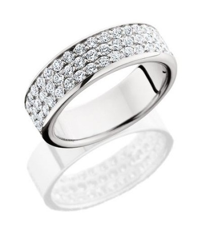 Rings - 1.02 Carat Round Brilliant Diamond Eternity Band 18Kt White Gold