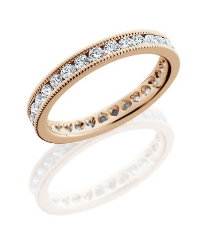 Rings - 1.30 Carat Round Brilliant Diamond Eternity Band 18Kt Rose Gold