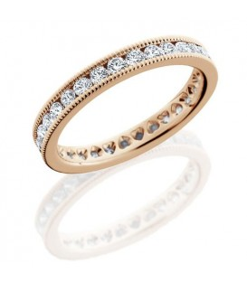 1.30 Carat Round Brilliant Diamond Eternity Ring 18Kt Rose Gold