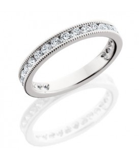 Rings - 1 Carat Round Brilliant Diamond Eternity Band 18Kt White Gold