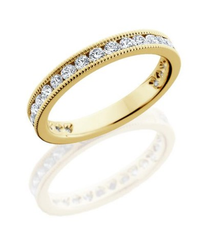 Rings - 1 Carat Round Brilliant Diamond Eternity Band 18Kt Yellow Gold