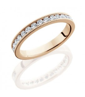 Rings - 0.65 Carat Round Brilliant Diamond Eternity Band 18Kt Rose Gold