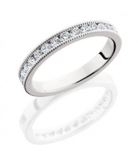 Rings - 0.65 Carat Round Brilliant Diamond Eternity Band 18Kt White Gold