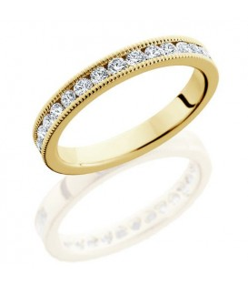 0.65 Carat Round Brilliant Diamond Eternity Ring 18Kt Yellow Gold