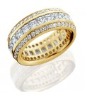 3.65 Carat Princess Cut Eternity Ring 18Kt Yellow Gold