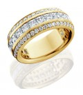 2.81 Carat Princess Cut Eternity Ring 18Kt Yellow Gold