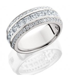 Rings - 1.84 Carat Princess Cut Eternity Band 18Kt White Gold
