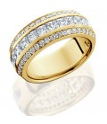 1.84 Carat Princess Cut Eternity Ring 18Kt Yellow Gold