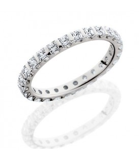 Rings - 1.79 Carat Princess Cut Eternity Band 18Kt White Gold