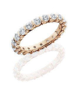 Rings - 1 Carat Round Brilliant Eternity Band 18Kt Rose Gold