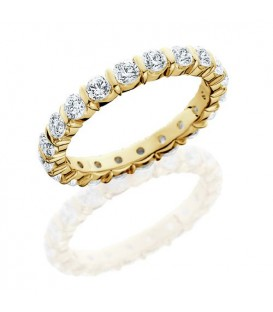 1 Carat Round Brilliant Eternity Ring 18Kt Yellow Gold