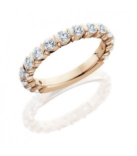 Rings - 0.75 Carat Round Brilliant Eternity Band 18Kt Rose Gold