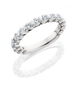 Rings - 0.75 Carat Round Brilliant Eternity Band 18Kt White Gold