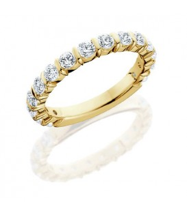 Rings - 0.75 Carat Round Brilliant Eternity Band 18Kt Yellow Gold
