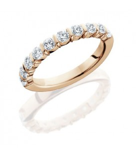 Rings - 0.50 Carat Round Brilliant Eternity Band 18Kt Rose Gold