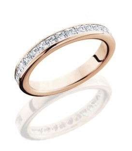 Rings - 1.19 Carat Princess Cut Eternity Band 18Kt Rose Gold