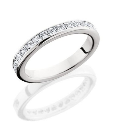 Rings - 1.19 Carat Princess Cut Eternity Band 18Kt White Gold