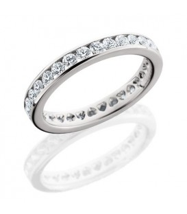 More about 1.30 Carat Round Brilliant Eternity Ring 18Kt White Gold