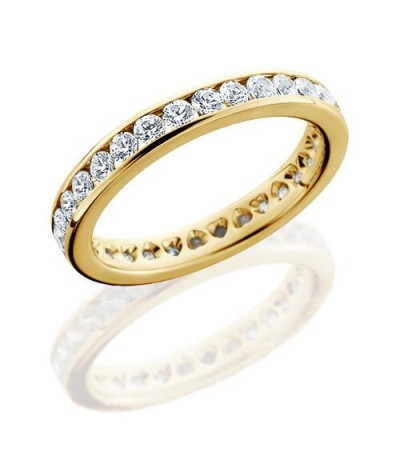 Rings - 1.30 Carat Round Brilliant Eternity Band 18Kt Yellow Gold