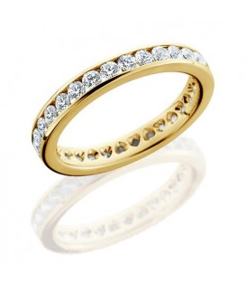 More about 1.30 Carat Round Brilliant Eternity Ring 18Kt Yellow Gold