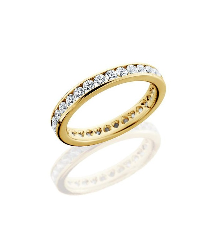 brilliant 1 30ct eternity ring 18kt yellow
