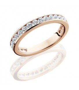 More about 1 Carat Round Brilliant Eternity Ring 18Kt Rose Gold