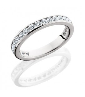 More about 1 Carat Round Brilliant Eternity Ring 18Kt White Gold