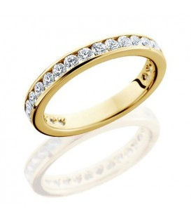 Rings - 1 Carat Round Brilliant Eternity Band 18Kt Yellow Gold