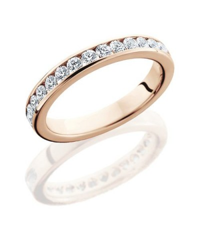 Rings - 0.65 Carat Round Brilliant Eternity Band 18Kt Rose Gold