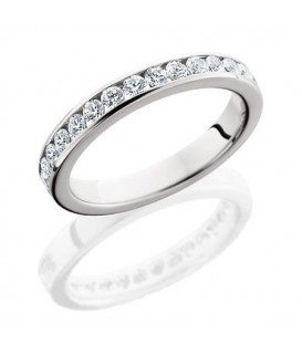 Rings - 0.65 Carat Round Brilliant Eternity Band 18Kt White Gold