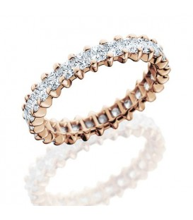 More about 2.30 Carat Princess Cut Diamond Eternity Ring 14Kt Rose Gold