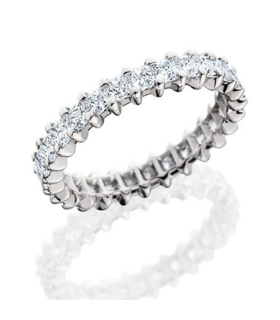 Rings - 2.30 Carat Princess Cut Diamond Eternity Band 18Kt White Gold