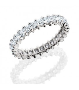 More about 2.30 Carat Princess Cut Diamond Eternity Ring 18Kt White Gold
