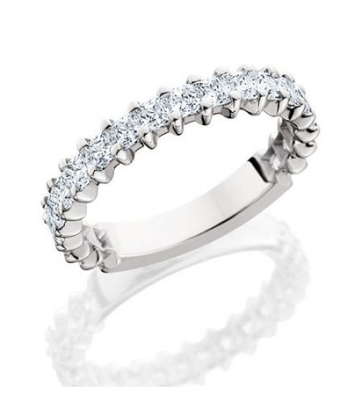 Rings - 1.70 Carat Princess Cut Diamond Eternity Band 18Kt White Gold