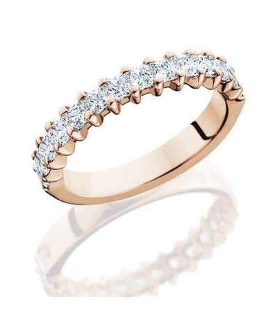 Rings - 1.19 Carat Princess Cut Diamond Eternity Band 14Kt Rose Gold