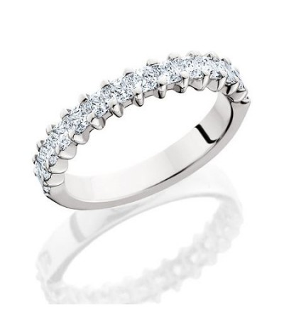 Rings - 1.19 Carat Princess Cut Diamond Eternity Band 18Kt White Gold