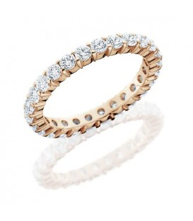 Rings - 1.43 Carat Round Brilliant Diamond Eternity Band 18Kt Rose Gold