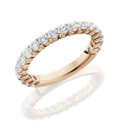 Rings - 1.10 Carat Round Brilliant Diamond Eternity Band 18Kt Rose Gold