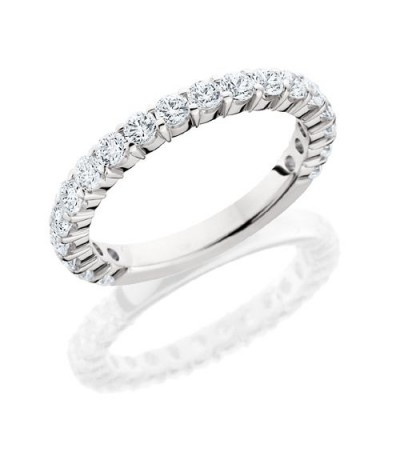 Rings - 1.10 Carat Round Brilliant Diamond Eternity Band 18Kt White Gold