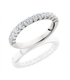 Rings - 0.72 Carat Round Brilliant Diamond Eternity Band 18Kt White Gold