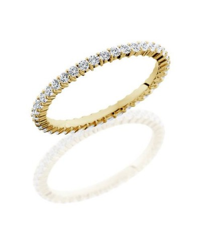 Rings - 0.60 Carat Round Brilliant Diamond Eternity Band 18Kt Yellow Gold