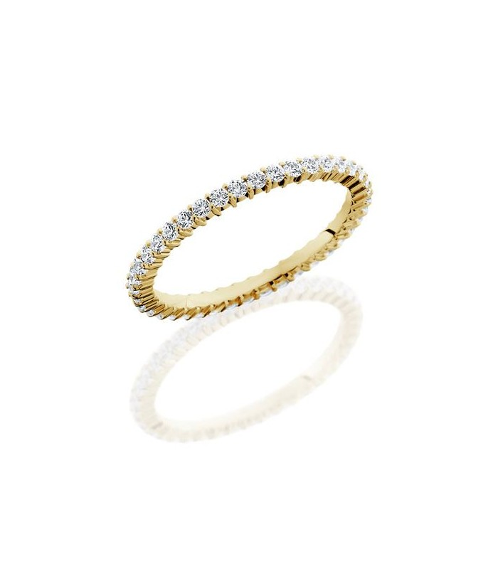 diamond womens eternity bezel band yellow wedding stackable rings gold set bands