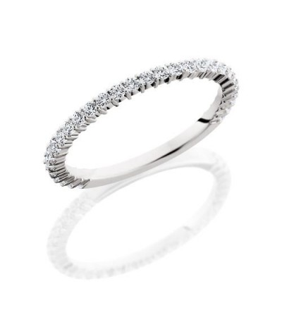 Rings - 0.45 Carat Round Brilliant Diamond Eternity Band 18Kt White Gold