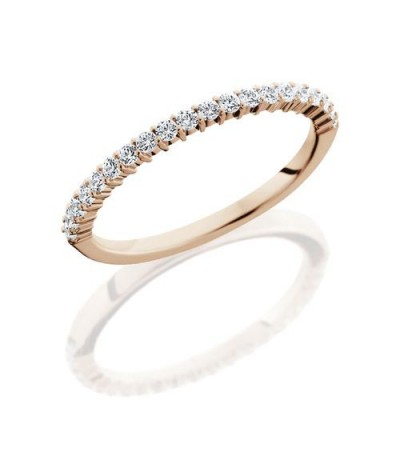 Rings - 0.31 Carat Round Brilliant Diamond Eternity Band 14Kt Rose Gold