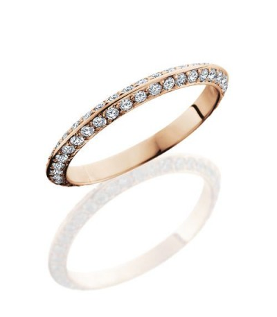 Rings - 1.04 Carat Round Brilliant Diamond Eternity Band 14Kt Rose Gold